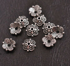 100Pcs 8mm Flower Bead Caps Floral Spacer Beads 8MM DIY Tibetan Silver Alloy