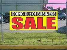 GOING OUT OF BUSINESS SALE Banner Sign NEW Yellow Red & Black