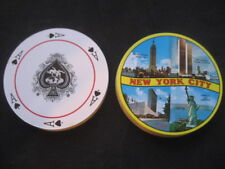 Deck Poker. New York City. Torres Twin, Empire State, Statue of Liberty