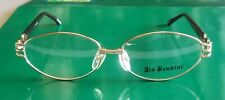 New Gold Vintage JIO BENDINI Eyeglasses See-Through Brown Temples with Free Case