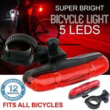 5 Super Bright Waterproof LED MTB Bike Bicycle Rear Tail Light RED Lamp 4 Mode