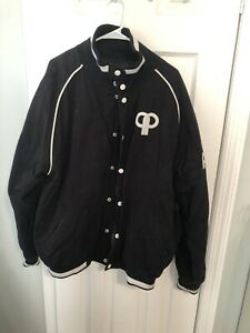 pelle pelle Varsity Jacket Size: 2XL Black