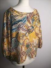 Zara YELLOW FRONT WRAP SUMMER TOP BLOUSE  SIZE M