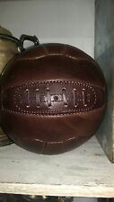 A Full Size Brown Vintage Leather Football (no inscription)
