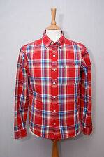 Hollister Men's Check Slim Button Down Casual Shirts & Tops