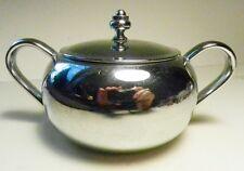 ART DECO~Keystonewear/Keystoneware Chrome Plated Double Handled Sugar Bowl & Lid
