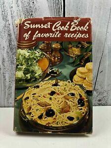 Sunset Cook Book of favorite recipes Cookbook Recipes 1949 Vintage