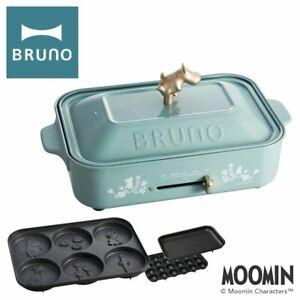 BRUNO Moomin Compact Hot Plate 3 Plates, Flat, Takoyaki, Pancake Plates