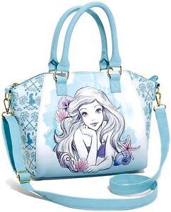 Loungefly Disney The Little Mermaid Ariel Watercolor Sketch Satchel Bag