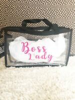 Clear Black Bag Clear Purse Clear Makeup Bag Mother's Day Gift Free Shipping