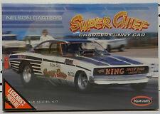 POLAR LIGHTS SUPER CHIEF DRAG RACING DODGE CHARGER 1970 FUNNY CAR KING MODEL KIT