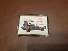 RICHARD DICKERSON 443 NEW TARMAC CAR Brisca stock car racing pin badge.
