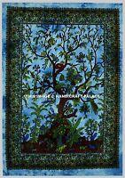 Tree Of Life Large Indian Tie Dye Wall Hanging Hippie Mandala Yoga Mat Tapestry