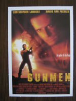 Filmplakatkarte  Gunmen   Christopher Lambert, Mario Van Peebles, Denis Leary