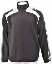 ADIDAS Mens Tracksuit Top Jacket Size 44 XL Black Polyester  FH02