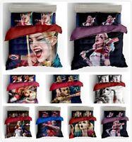 3D Suicide Squad Harley Quinn Duvet Cover Set DIY Bedding Quilt Cover Pillowcase