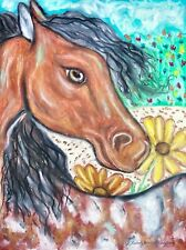 Appaloosa Summer Pop Art Print 8x10 Signed by Artist Horse Pony Collectible POA
