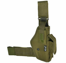 Mil-Tec Right Hand Leg Holster For Police Security Hunting Outdoor Olive
