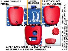 COVER GUSCIO SCOCCA ROSSO PER CHIAVE TELECOMANDO 2 TASTO PEUGEOT 206 107 207 307