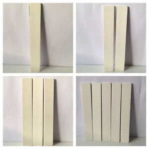 100/100 Grit LARGE Nail Files For Acrylic Nails WHITE Various Quantities