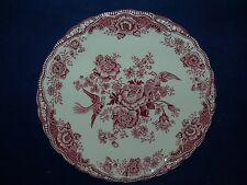 Crown Ducal Bristol Pink  Three Cream Soup Saucers or Dessert Plates  England
