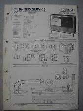 Philips FD887A 1008 Stereo Service Manual Ausgabe 10/58