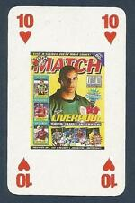 MATCH MAGAZINE-20 YEAR ANNIVERSARY COVER PLAYING CARD-LIVERPOOL-DAVID JAMES-10H