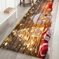 40x120CM Christmas Door Mat Home Floor Xmas Carpet Santa Decor Rug Non Slip Mats