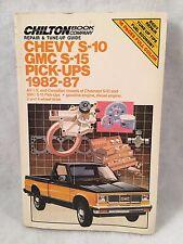 Chilton Book Company Repair & Tune-Up Guide CHEVY S-10 / GMC S-15 / PICK-UPS 198