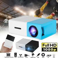Mini Portable HD 1080p LED Projector Home Theater Cinema Movies VGA/HDMI/USB/SD
