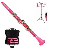 New Merano Bb Pink Clarinet with Zippered Hard Case+Pink Music Stand & 11 REEDS