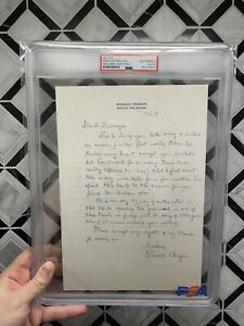 """President Ronald Reagan Autograph Letter Signed  """"Spreading The Good Word"""" PSA"""