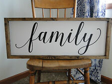 Framed Family Sign, Modern Farmhouse Sign, Fixer Upper Signs, Wood Family Sign,