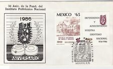 mexico 1986 50th anniv. of ipc  stamps cover ref 20295