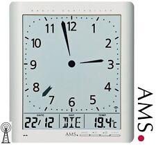 AMS 46 Horloge murale radio-pilotée Numérique de bureau Montre FUNKY