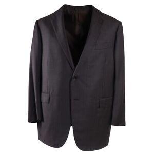Ermenegildo Zegna Chocolate Brown Stripe Wool and Silk Suit 48R