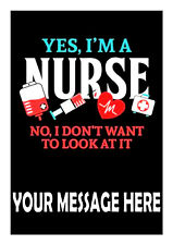 NURSE BIRTHDAY  PERSONALISED CAKE TOPPER A4  EDIBLE ICED/ ICING