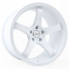 18X9.5 +35 VARRSTOEN ES9 5X100 WHITE Wheel Fits Vw Golf GOLF GTI Tc Fr-S Brz Wrx