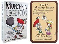 Munchkin Legends Card Game w/ Start A Munchkin Legend Promo Card Steve Jackson