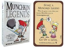 Munchkin Legends Card Game w/ Start A Munchkin Legend Promo Card Steve Jackson