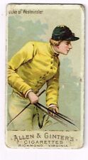 1888 Allen & Ginter's Horse Racing Colors of the World Duke of Westminster P/F