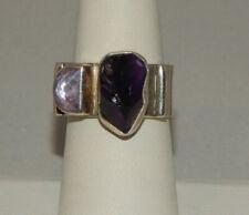 Sterling Silver 925 Purple Pink Amethyst Multistone Lilly Barrack Ring Sz 7