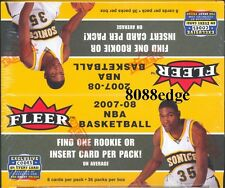 2007 07-08 FLEER NBA RETAIL BOX 36 PACKS: MICHAEL JORDAN/KEVIN DURANT ROOKIE RC
