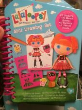 Lalaloopsy Mini Drawing Set 72Stickers, 25 Sketch Sheets, Stencils & Markers