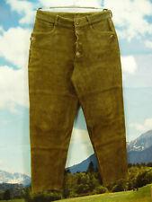 dick und schweres Hirschleder hochwertige lange Stickerei Lederhose Gr.48