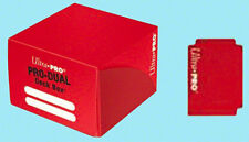 Ultra Pro PRO-DUAL RED 180 card DECK BOX NEW standard small size gaming storage