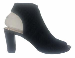 Life Stride Womens Alita Slingblack Open Toe Heels 6.5M Black Mesh Soft System