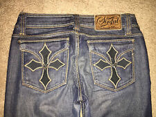 WOMEN'S SINFUL Distressed  JEANS  Bootcut Size 25  Free Shipping