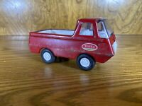 Vintage Tonka Red Truck Mini Ecoline Pressed Steel 1970's 4.5 inches made in USA