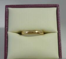 Superb Vintage 9k Gold Wedding Band Ring By SG Of Birmingham Size L